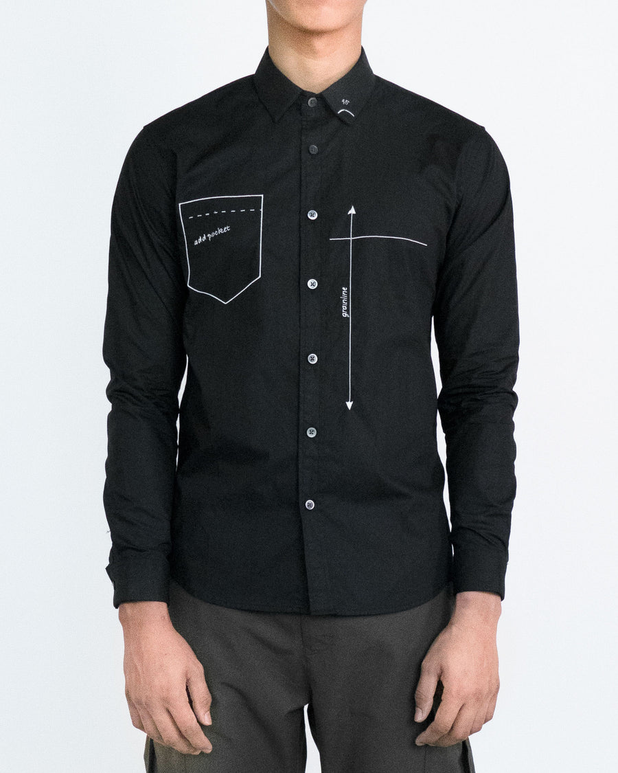 GRAYE | Black Drafting Shirt