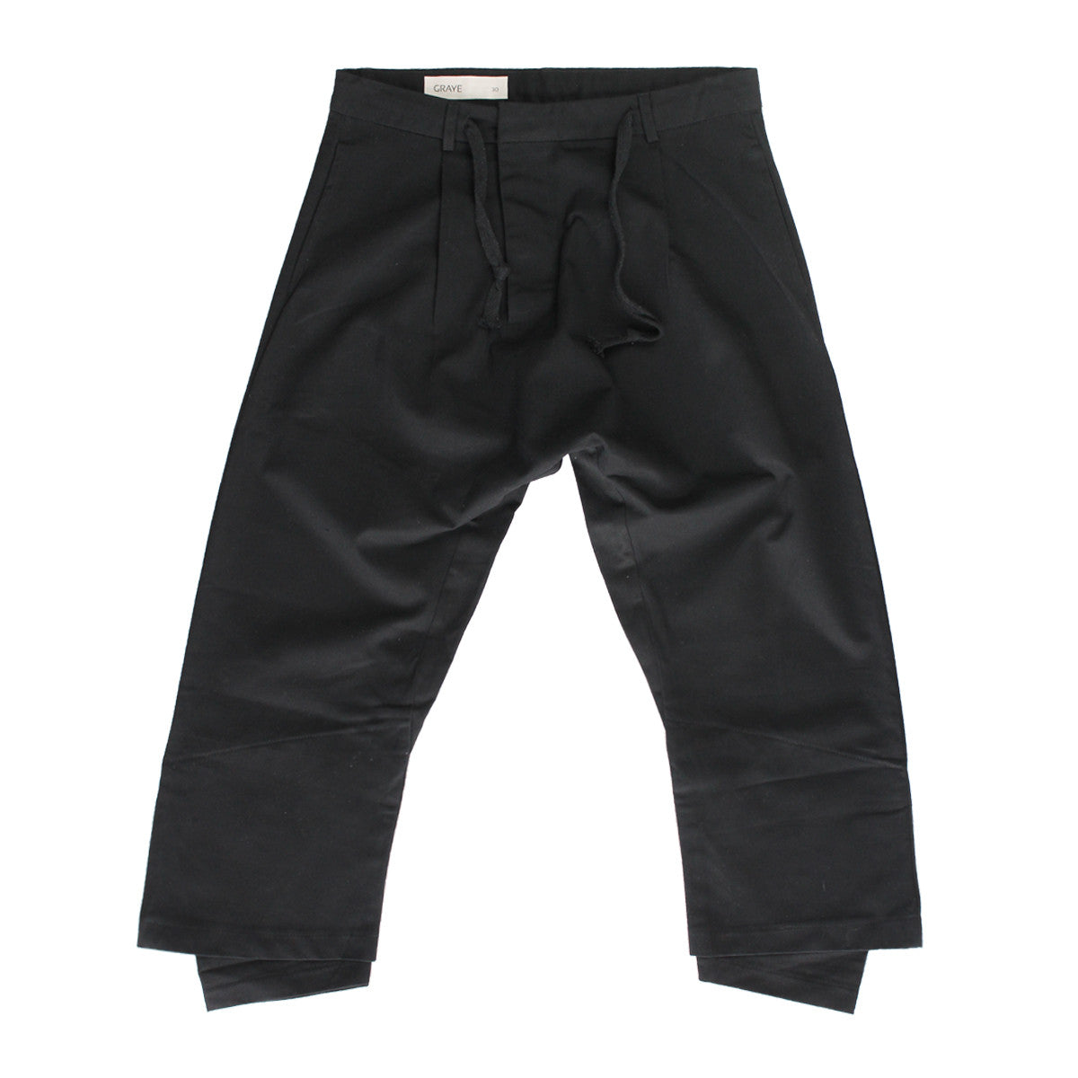 GRAYE | Black Double Hem Trousers