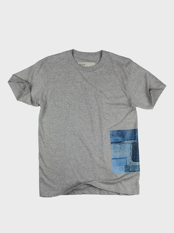 GRAYE | Melange Grey BoroBoro Cotton T-Shirt