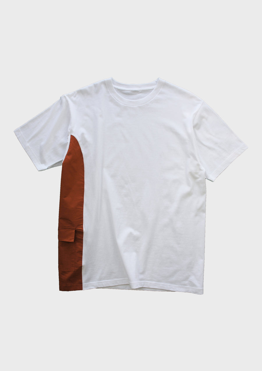 Spliced Tee - Fire Orange