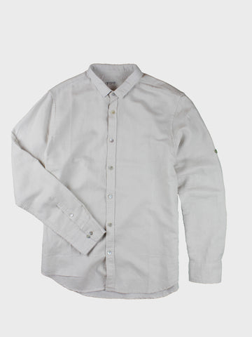 GRAYE | Cloud Convertible Collar Linen Shirt