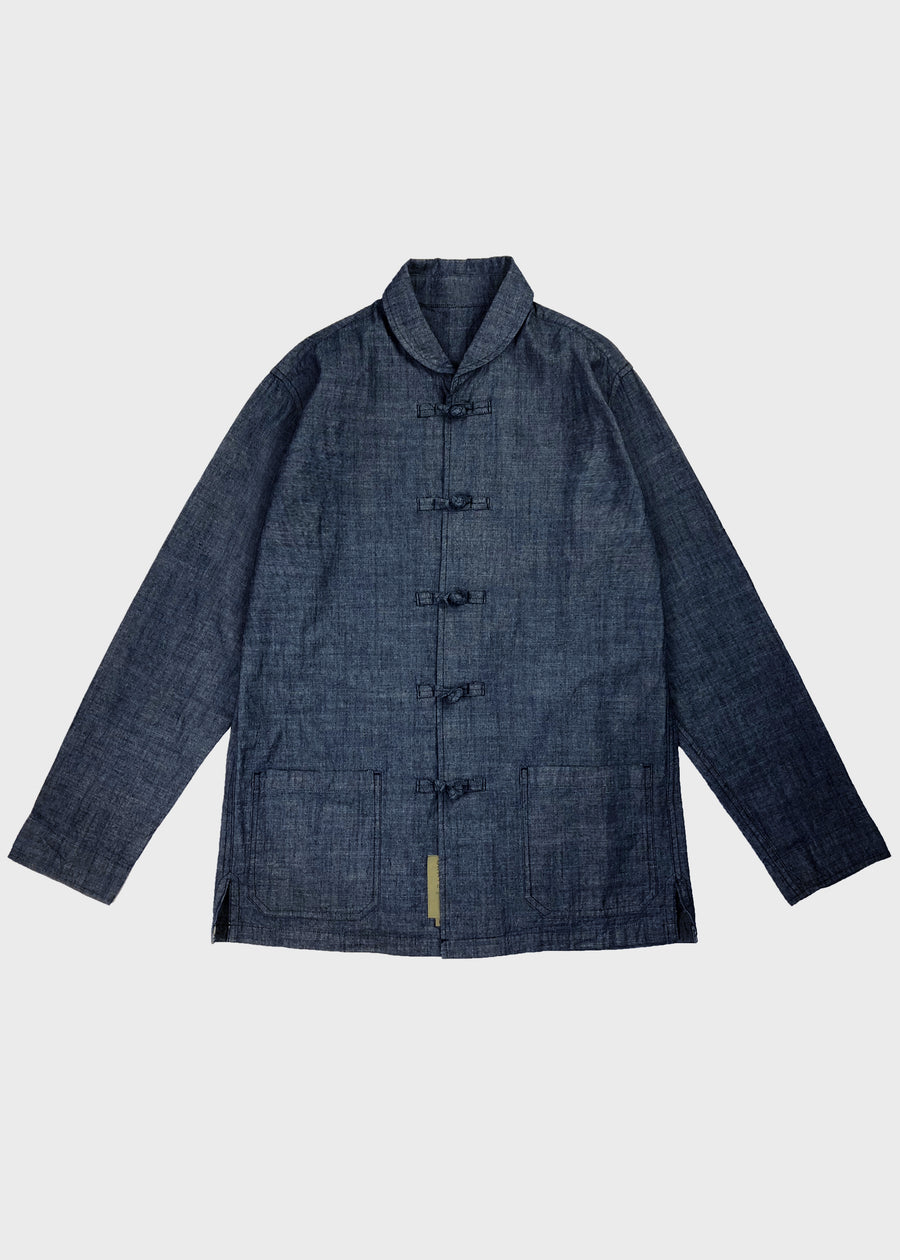 Shawl Collar Denim Shirt