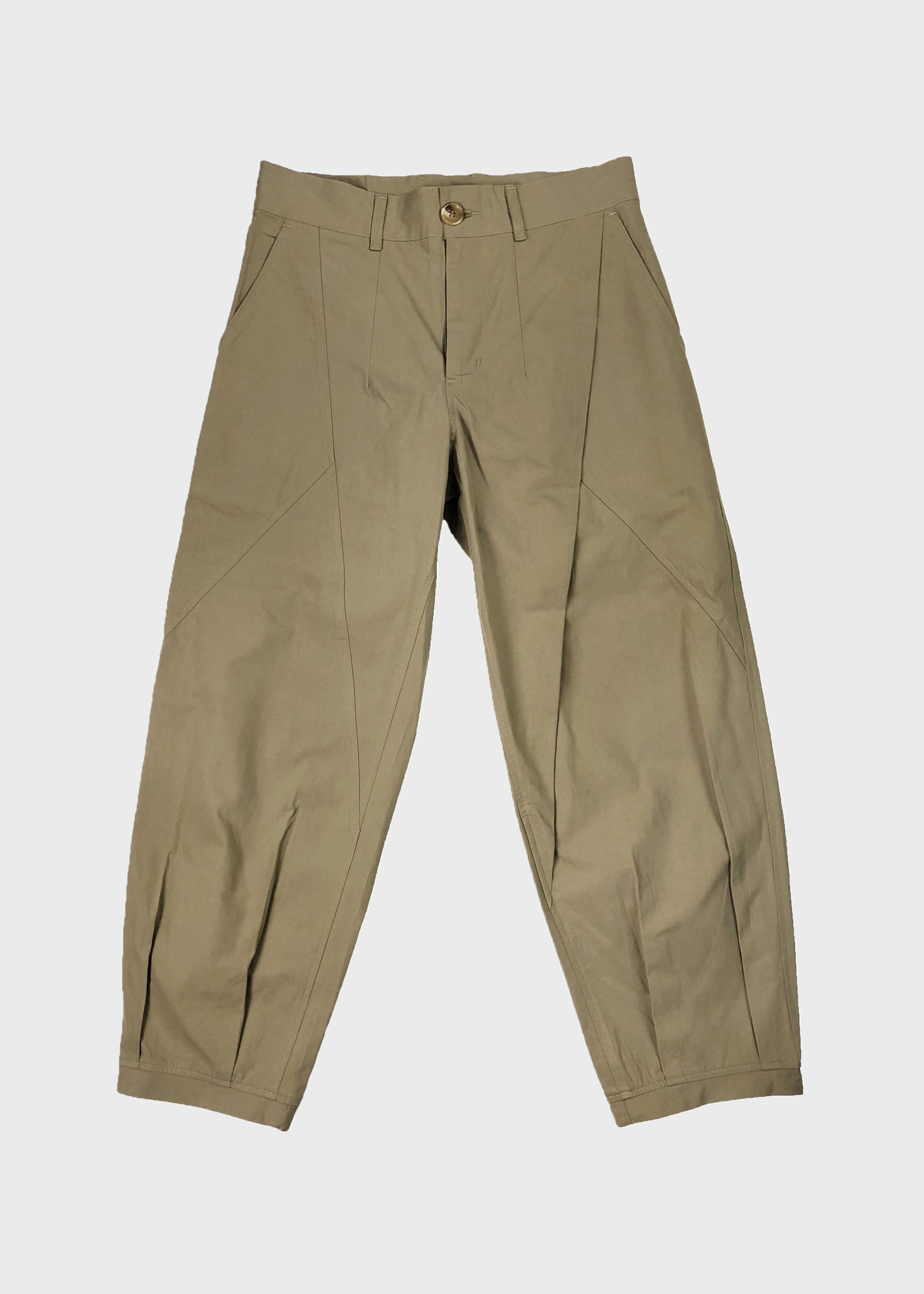 Panelled Pleated Chino