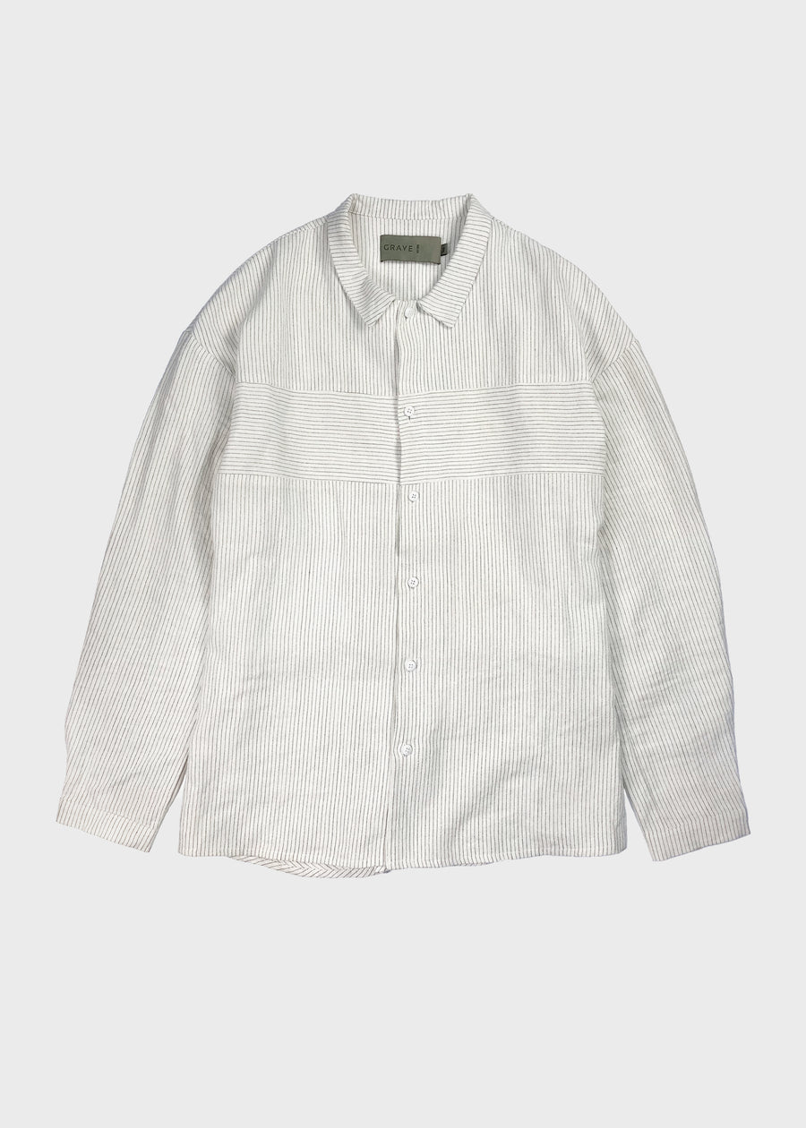 Striped Linen Shirt - Off White
