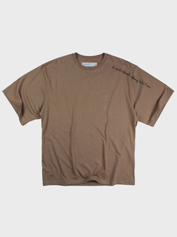 GRAYE | Light Rosewood Embroidered Oversized T-Shirt