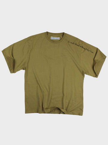 GRAYE | Mustard Yellow Embroidered Oversized T-Shirt