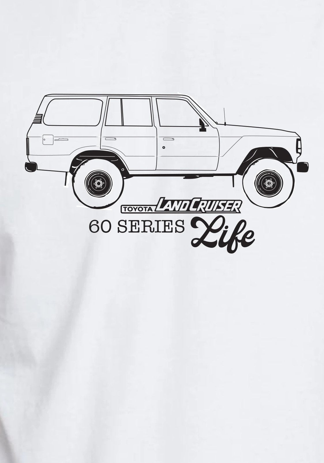 White Classic Land Cruiser T-shirt