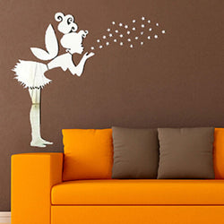 36pcs Angel Fairy Stars Modern Mirror Stickers Wall Home Decal Decor Art DIY