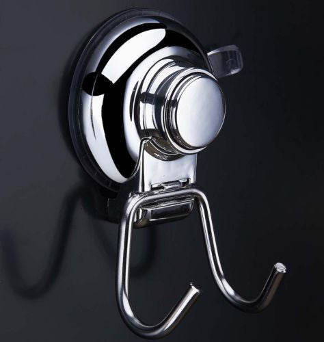 Aprince Cup Hook Holder Set of 2 Buttoned Strong Suction Cup Hook Bathroom