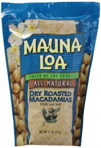 Mauna Loa Macadamias, Dry Roasted with Sea Salt, 11-oz