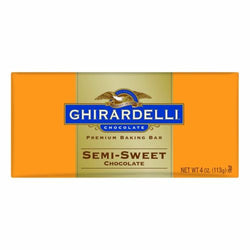 Ghirardelli Chocolate Baking Bar, Semi-Sweet Chocolate, 4-Ounce Bars(Pack of 6)