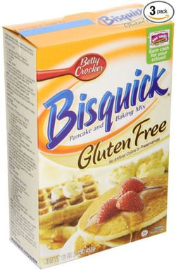 Bisquick Pancake and Baking Mix, Gluten-Free, 16-oz. Boxes (Count of 3)