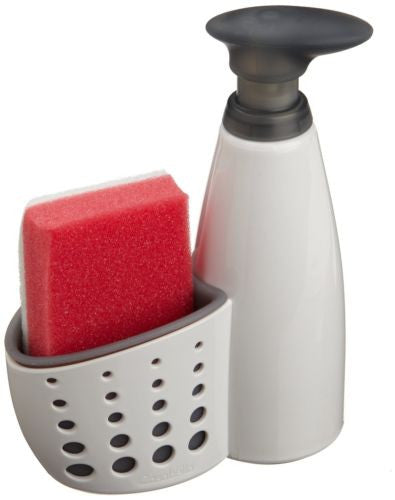 Casabella Sink Sider Soap Dispenser with Sponge Holder and Sponge