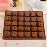 26 letters Silicone Cake Decorating Mould Candy Cookies Chocolate Baking Mold