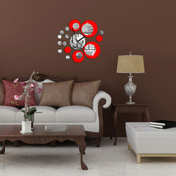 Hot Sale Fashion Removable Clock Mirror Style DIY Art Wall Stickers Decal Mural