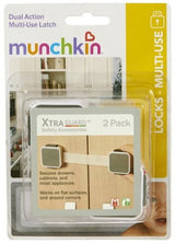 Munchkin Baby Locks & Latches Xtraguard Dual Action Multi Use Latches, 2 Count