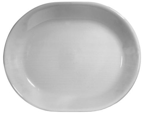 Corelle Livingware 12-1/4-Inch Serving Platter, Winter Frost White