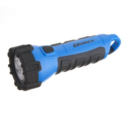 Dorcy Floating Waterproof LED Flashlight with Carabineer Clip 55-Lumen Blue