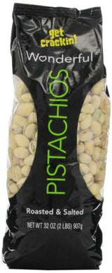 Wonderful Pistachios, Roasted and Salted, 32-oz. Bag