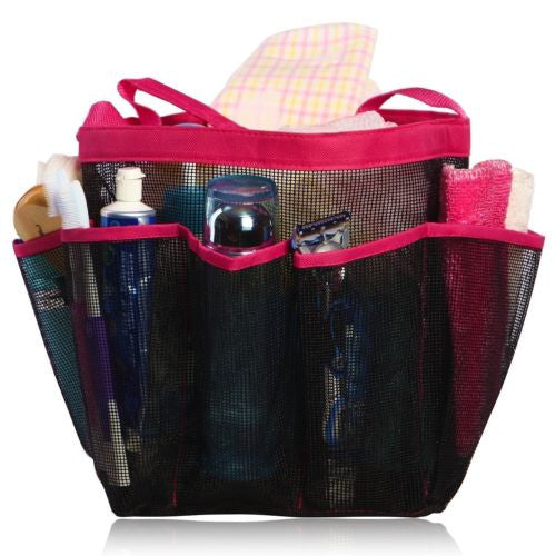 Quick Dry Hanging Toiletry and Bath Organizer with 8 Storage Shower Tote