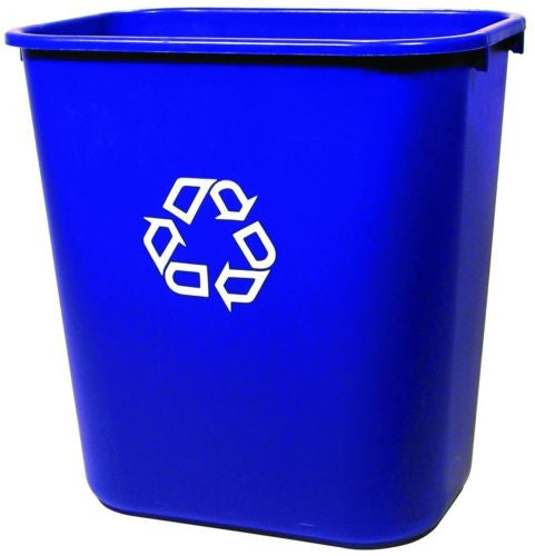 Rubbermaid FG295673 Blue Medium Deskside Recycling Container