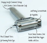 Kitchen Ultra Sharp Stainless Steel Dual Julienne & Vegetable Peeler Complete