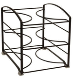 "DecoBros Kitchen Wrap Organizer Rack (Small / Standard, 2-1/2"" BOX) (Bronze)"