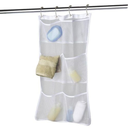 Quick Dry Hanging Caddy  with 6-pocket Liner Hooks Shower Organizer