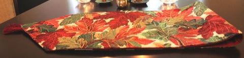 "Tache 13"" X 54"" Tapestry Thanksgiving Leaves Fall Foliage Table Runner"