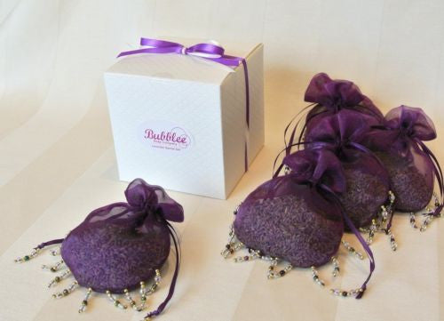 Hanging Lavender Sachets Organic Lavender Gift Set for Closets Sleep or Drawers