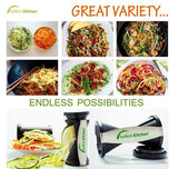 iPerfect Kitchen Envy Spiral Slicer Bundle Vegetable Spiralizer Pasta Maker