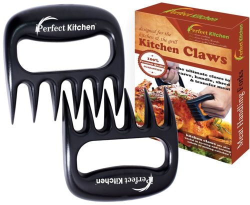 Kitchen Meat Handling Shredding Claws Meat Handler Carving Forks Set of 2 Black