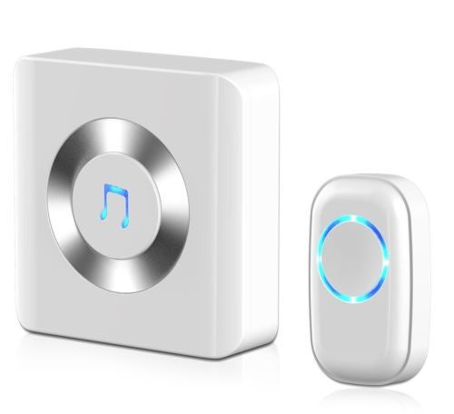 Wireless Digital Door Bell Plug-in Push Button with LED Indicator Over 50 Chimes