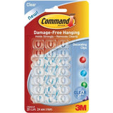 Command Decorating Clips, Clear, 20-Clip
