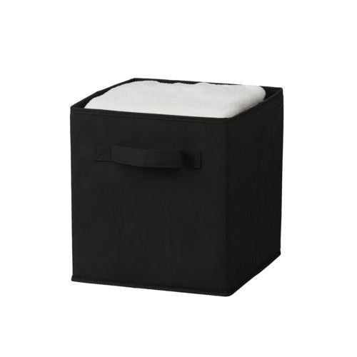 Sorbus Foldable Storage Cube Basket Bin (1 Pack, Black)