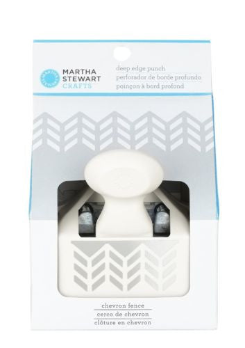 Martha Stewart Crafts Deep Edge Punch, Chevron Fence
