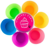 Silicone Baking Cups Cupcake Liner 12 Reusable Muffin Molds in Storage Container
