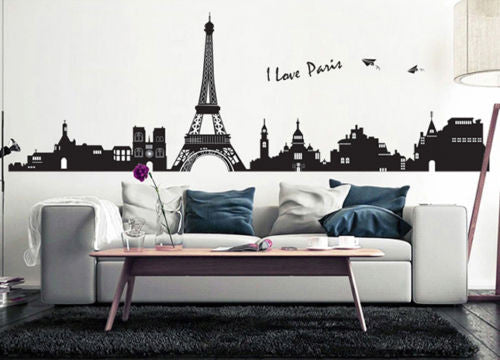 Eiffel Tower Removable Wall Sticker DIY Home Art Decor Vinyl Mural Decal Fashion