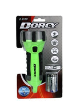 Dorcy Floating Waterproof LED Flashlight with Carabineer Clip Neon Green