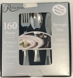 Reflections Plastic Silverware, 160 Pieces