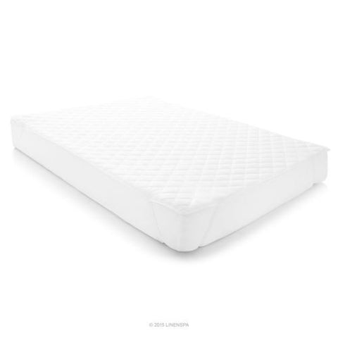LINENSPA Waterproof Mattress Pad with Quilted Microfiber Cover - Twin XL