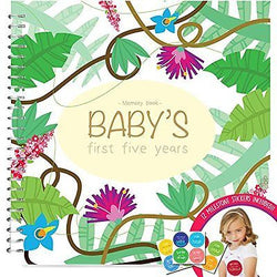 Baby's First Year Memory Book With 12 Milestone Stickers, Jungle Edition