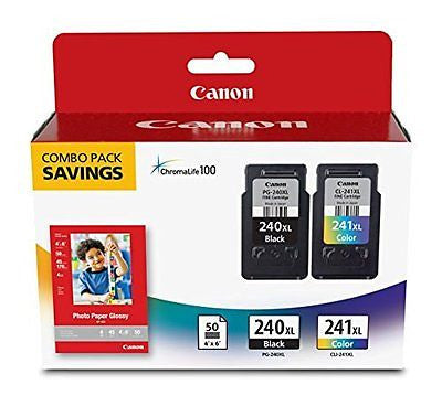 Canon Fine Cartridge PG-240XL/CL-241XL with Photo Paper Glossy