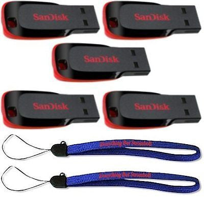 SanDisk Cruzer Blade 8GB (5 pack) USB 2.0 Flash Drive Jump Drive Pen Drive SDCZ5