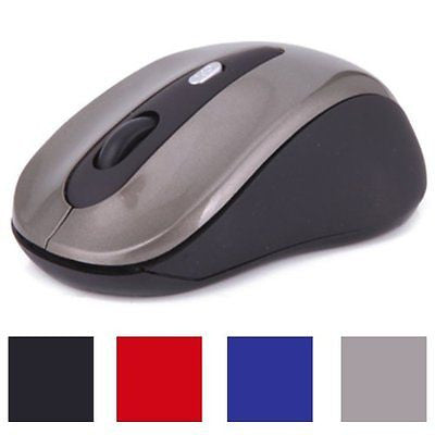 HDE Ergonomic Bluetooth Wireless Optical Laser Mouse for Android Tablets (Grey)