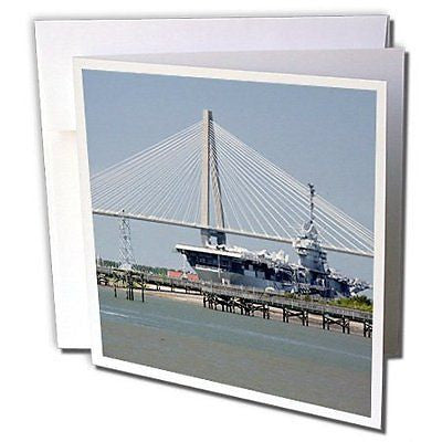 Danita Delimont - Bridges - SC, Ravenel Bridge Yorktown aircraft carrier