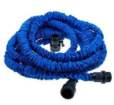 Worth Flexible Expandable Expanding Garden & Lawn Water Hose 25 Ft Feet Blue