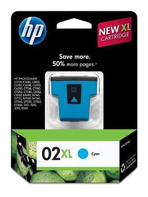 02XL Cyan High Yield Original Ink Cartridge (C8730WN)