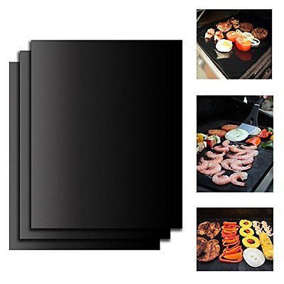 On'h BBQ Grill Mat 16x13 Inch Barbecue Grill Mats Set of 3 Heavy Duty Non stick