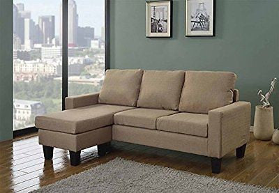 Home Life Canvas Linen Cloth Modern Contemporary Upholstered Quality Sectional